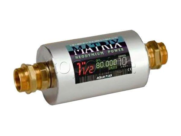 Магнитный смягчитель воды MATRIX 1″1/2. 80.000 Gauss 11000 Lt/h