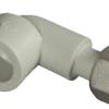 Колено 90* с накидной гайкой ASG-plast