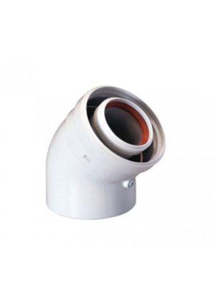 Коаксиальный отвод 87°, диам. 110/160, НТ