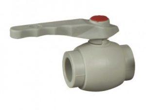 Вентиль-клапан пластиковый шаровой с латунным шариком ASG-plast