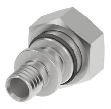 Соединение прямое с внутренней резьбой никелированное (накидная гайка, Евроконус) 16 x 3/4″