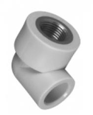 Колено с металлической резьбой внутренней ASG-plast