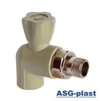 Вентиль радиаторный угловой с резинкой ASG-plast