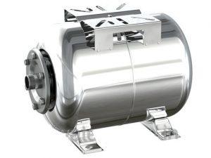Гидроаккумулятор 80л нержавейка, горизонтальный